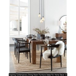 Inspiring Contemporary Dining Room Furniture Ideas For Home Decor 11