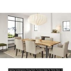 Inspiring Contemporary Dining Room Furniture Ideas For Home Decor 14