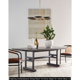 Inspiring Contemporary Dining Room Furniture Ideas For Home Decor 21