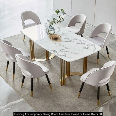 Inspiring Contemporary Dining Room Furniture Ideas For Home Decor 34