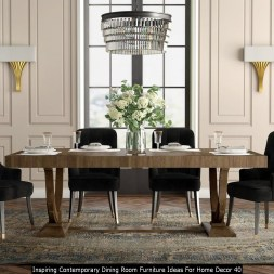 Inspiring Contemporary Dining Room Furniture Ideas For Home Decor 40