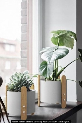 Modern Planters Ideas To Spruce Up Your Space With Subtle Style 07