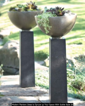 Modern Planters Ideas To Spruce Up Your Space With Subtle Style 20