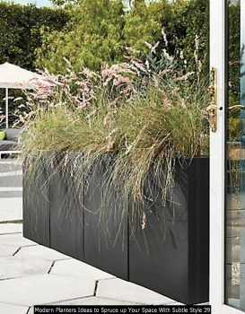 Modern Planters Ideas To Spruce Up Your Space With Subtle Style 39