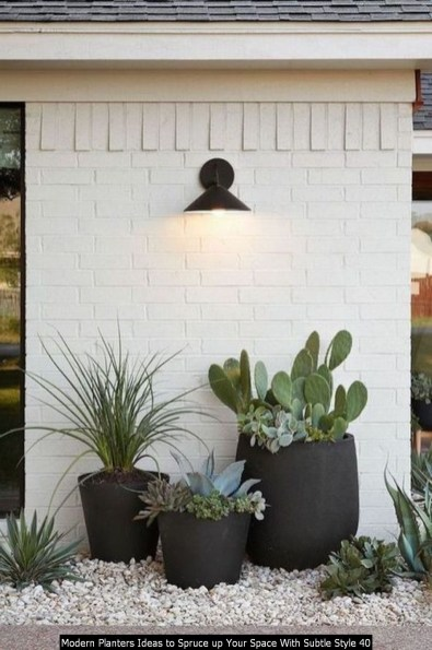 Modern Planters Ideas To Spruce Up Your Space With Subtle Style 40