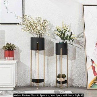 Modern Planters Ideas To Spruce Up Your Space With Subtle Style 42