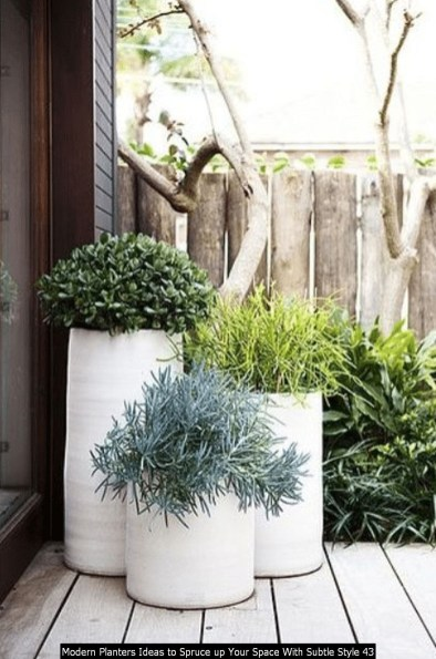 Modern Planters Ideas To Spruce Up Your Space With Subtle Style 43