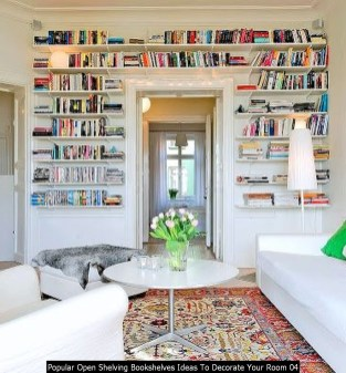 Popular Open Shelving Bookshelves Ideas To Decorate Your Room 04