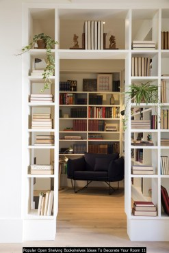 Popular Open Shelving Bookshelves Ideas To Decorate Your Room 11