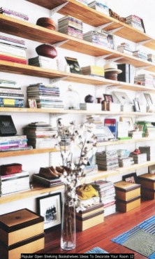 Popular Open Shelving Bookshelves Ideas To Decorate Your Room 12