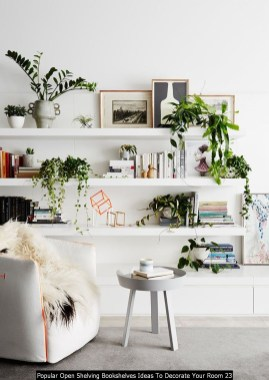 Popular Open Shelving Bookshelves Ideas To Decorate Your Room 23