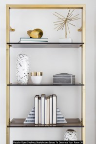 Popular Open Shelving Bookshelves Ideas To Decorate Your Room 30
