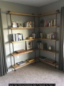 Popular Open Shelving Bookshelves Ideas To Decorate Your Room 31