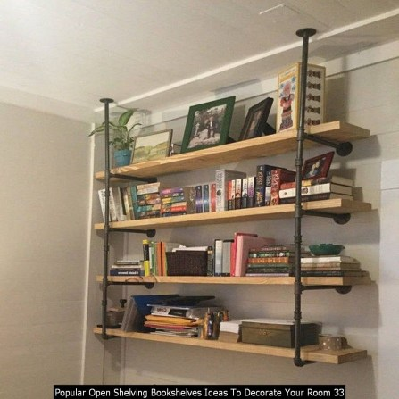 Popular Open Shelving Bookshelves Ideas To Decorate Your Room 33