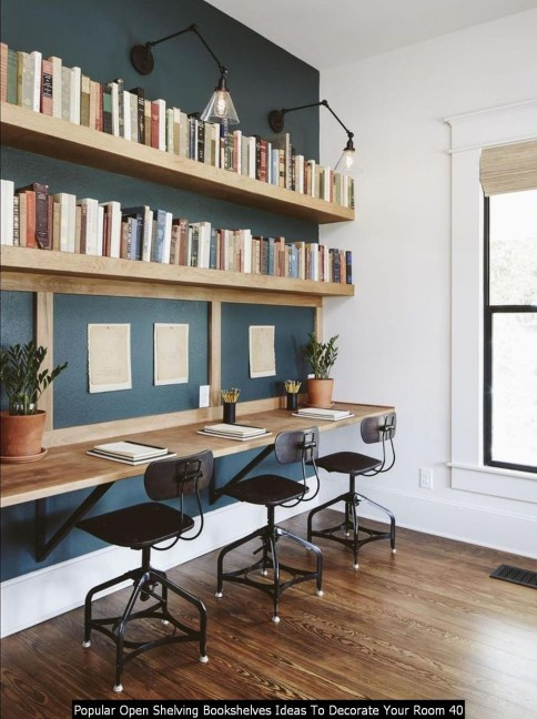 Popular Open Shelving Bookshelves Ideas To Decorate Your Room 40