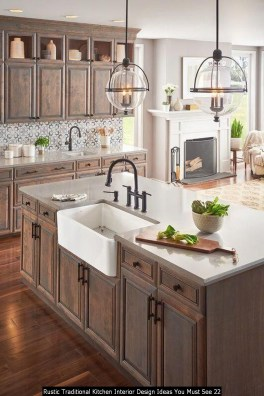 Rustic Traditional Kitchen Interior Design Ideas You Must See 22