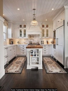 Rustic Traditional Kitchen Interior Design Ideas You Must See 27