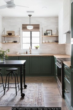 Rustic Traditional Kitchen Interior Design Ideas You Must See 51