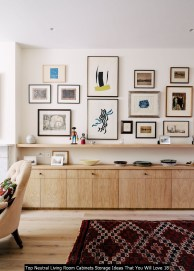 Top Neutral Living Room Cabinets Storage Ideas That You Will Love 18