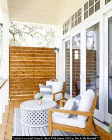 Trendy Minimalist Balcony Ideas That Leave Nothing Else To Be Desired 01