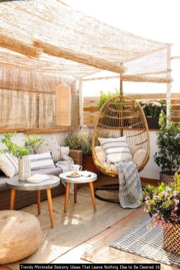Trendy Minimalist Balcony Ideas That Leave Nothing Else To Be Desired 16