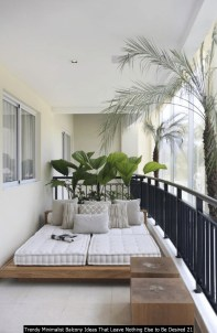 Trendy Minimalist Balcony Ideas That Leave Nothing Else To Be Desired 21