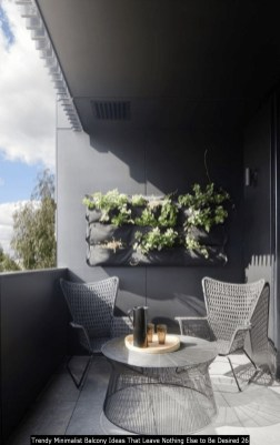 Trendy Minimalist Balcony Ideas That Leave Nothing Else To Be Desired 26