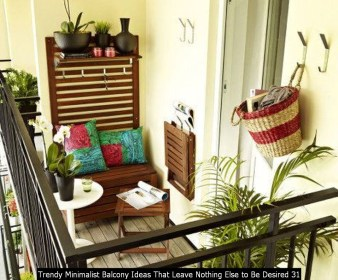 Trendy Minimalist Balcony Ideas That Leave Nothing Else To Be Desired 31