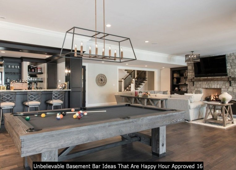 Unbelievable Basement Bar Ideas That Are Happy Hour Approved 16