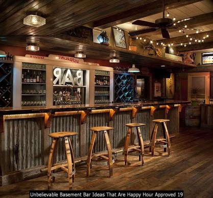 Unbelievable Basement Bar Ideas That Are Happy Hour Approved 19