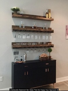 Unbelievable Basement Bar Ideas That Are Happy Hour Approved 26