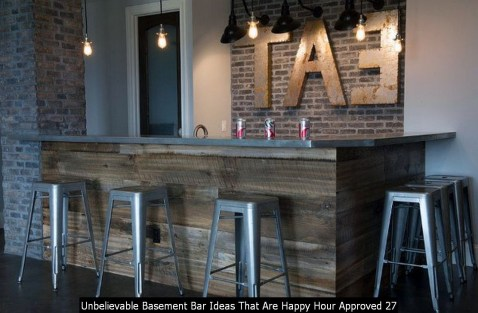 Unbelievable Basement Bar Ideas That Are Happy Hour Approved 27