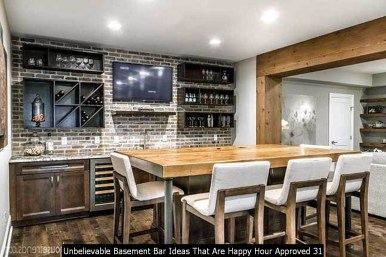 Unbelievable Basement Bar Ideas That Are Happy Hour Approved 31