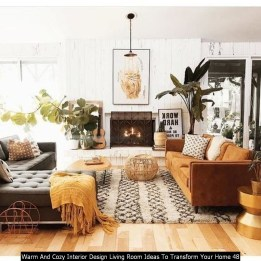 Warm And Cozy Interior Design Living Room Ideas To Transform Your Home 48