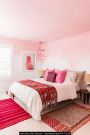 Astonishing Red Bedroom Decorating Ideas For You 05