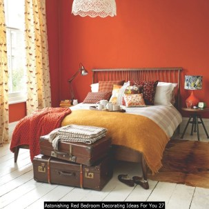 Astonishing Red Bedroom Decorating Ideas For You 27