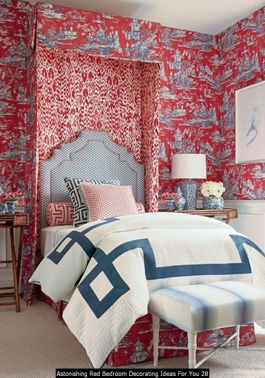 Astonishing Red Bedroom Decorating Ideas For You 28