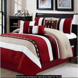Astonishing Red Bedroom Decorating Ideas For You 33
