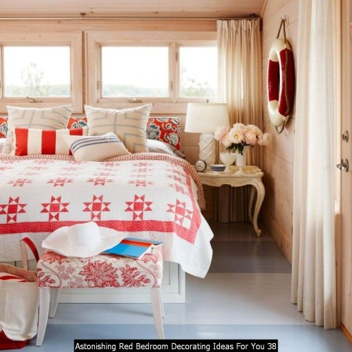 Astonishing Red Bedroom Decorating Ideas For You 38