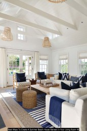 Best Ways To Create A Summer Beach House Retreat In Your Living Room 40