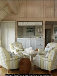 Best Ways To Create A Summer Beach House Retreat In Your Living Room 42