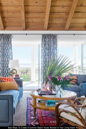 Best Ways To Create A Summer Beach House Retreat In Your Living Room 43