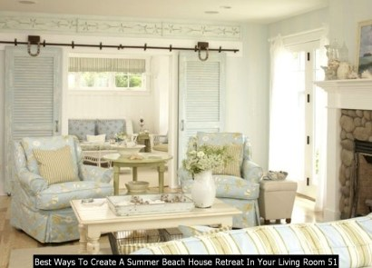 Best Ways To Create A Summer Beach House Retreat In Your Living Room 51