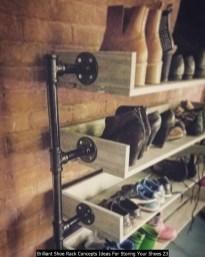 Brilliant Shoe Rack Concepts Ideas For Storing Your Shoes 23