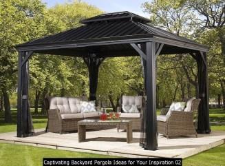Captivating Backyard Pergola Ideas For Your Inspiration 02