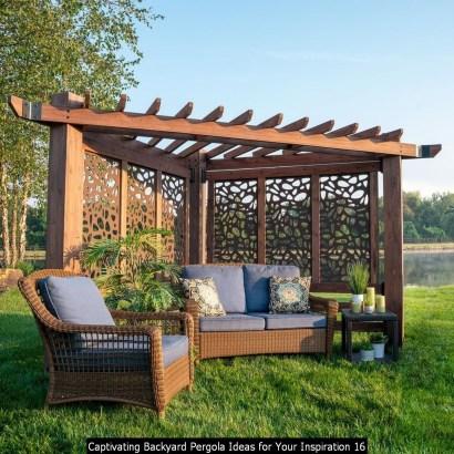 Captivating Backyard Pergola Ideas For Your Inspiration 16