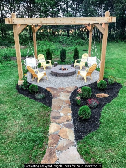 Captivating Backyard Pergola Ideas For Your Inspiration 24