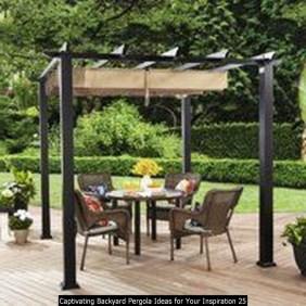 Captivating Backyard Pergola Ideas For Your Inspiration 25