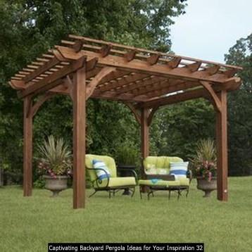 Captivating Backyard Pergola Ideas For Your Inspiration 32
