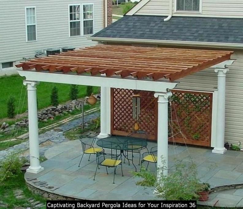 Captivating Backyard Pergola Ideas For Your Inspiration 36